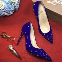 Cl Christian Louboutin 100mm Patent Leather High Heels W04