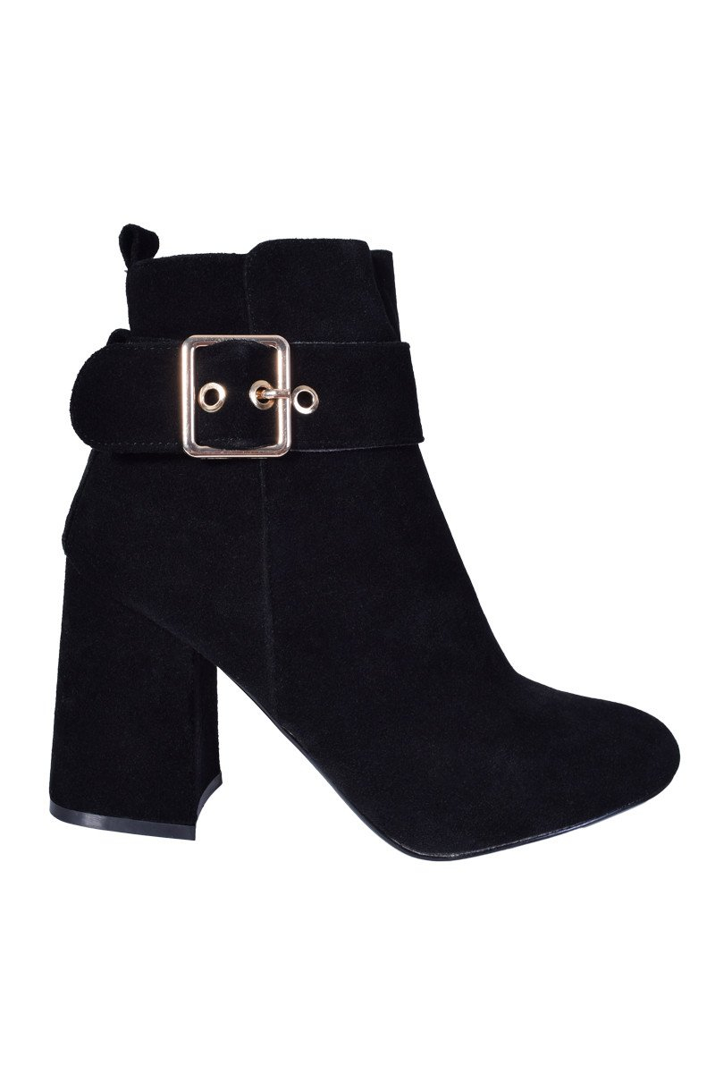Image of Sami Faux Suede Buckle Boot