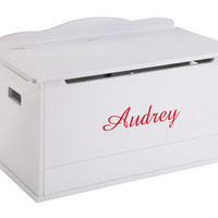 Guidecraft Expressions Toy Box: White - G87103