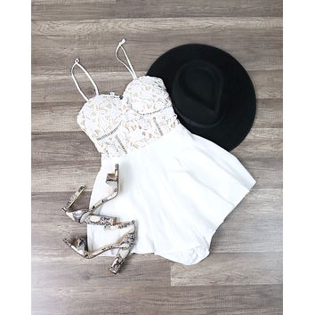 Playdate Romper in White