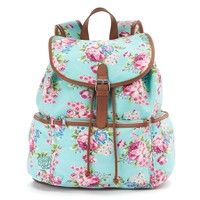 Candie's Nicole Floral Backpack (Green)
