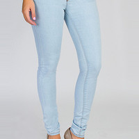 Women Jeans Junior White Star Skinny Jean