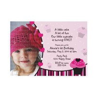 Cupcake Invitation or Thank You Card from Zazzle.com