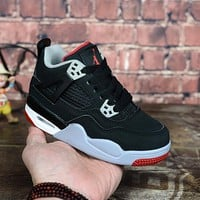 "Air Jordan 4 ""Bred"" Kid Shoes - Best Deal Online"