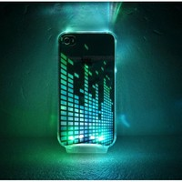 LED Light up Colorful Light Change Music Case Cover for Apple Iphone 4 4g 4s