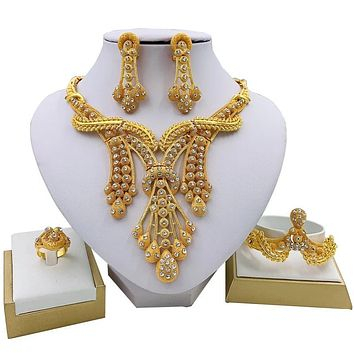 Jewelry Sets Big Necklace Classic Bracelet Earrings Ring