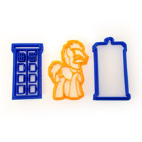 Doctor Who Doctor Whooves and Tardis Cookie Cutter Set