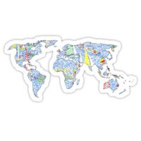 Lilly Pulitzer Map of the World