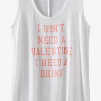Express One Eleven Valentine Graphic Tank from EXPRESS