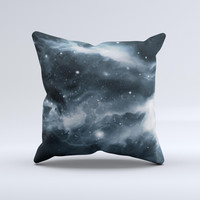 The Space Marble ink-Fuzed Decorative Throw Pillow