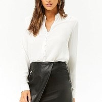 High-Low Chiffon Shirt
