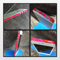 Pink Hologram Geometric Edge Wrap for Apple iPhone 5S 5 Unique Color Changing : Decal Sticker with Free Shipping!