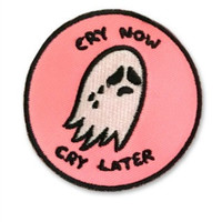 Cry Now Cry Later Patch in Pink - Hello Holiday