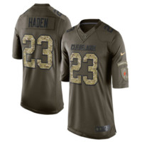 #23 Joe Haden Cleveland Browns Nike salute to service limited edition JERSEY -#23 Green