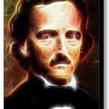 Framed Edgar Allan Poe Magical 9X11 Art Print Limited Edition w/signed COA