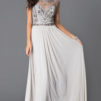 Long JVN by Jovani Prom Dress with Beaded Bodice