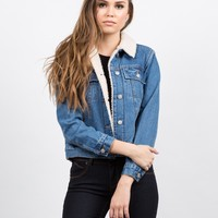 Sherpa Trucker Denim Jacket