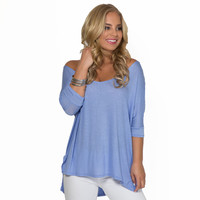 Freedom Jersey Blouse In Lilac