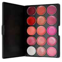 Beauty Make-up On Sale Hot Sale Stylish Hot Deal 15-color Lip Gloss Waterproof Moisture Persistent Professional Make-up Palette [4918376196]