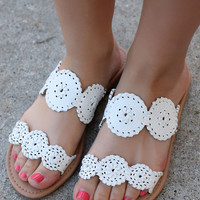 From The Valley Sandal - White