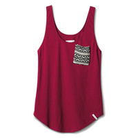Women's Boysenberry Pocket Tank | TOMS