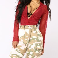 Bad To The Bone Bodysuit - Red Brown