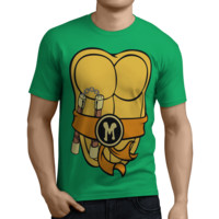 Teenage Mutant Ninja Turtles TMNT Michelangelo T-shirt