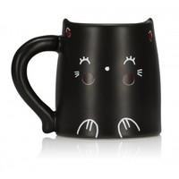 Oh K! Cat Mug with Heat-Reactive Color Changing Cheeks