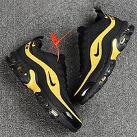 NIKE AIR MAX PLUS TN6 New fashion hook print men shoes Black
