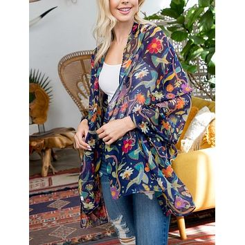 Tropical Bird Print Scarf/Shawl