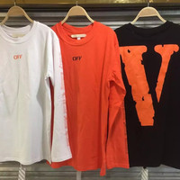 Vlone V letter t-shirt kanye west unisex high quality cotton brand tshirt