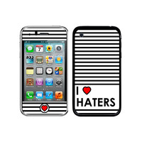I Love Heart Haters iPhone 3G-3GS Skin