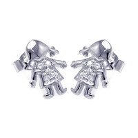 Sterling Silver Little Baby Girl Stud Earrings