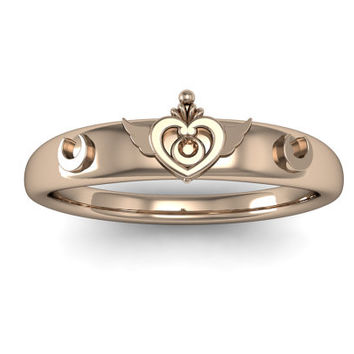 Sailor Moon Crisis Moon Compact Ring in 14k Gold