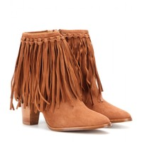 Sandrine fringed suede ankle boots