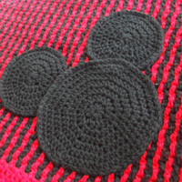 Mickey Mouse Striped Blanket - Free Shipping