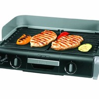 Emeril by T-fal TG8000 XL Griller with Two Independent Temperature Controls, Silver