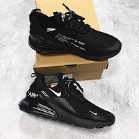 Off white x Nike Air Max 270 Fashion casual shoes