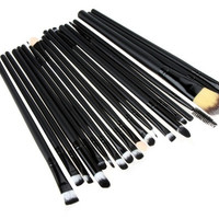 20pcs Make Up Eyeshadow Eyebrow Mascara Lip Sponge Eyeliner Brushes Set Kit = 1669448964