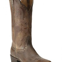 Ariat Antique Brown Good Times Cowgirl Boots - Square Toe - Sheplers