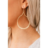 Show Me The Way Hoop Earrings (Gold)