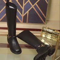 "LV Louis Vuitton Trending Women Black Brown ""Monogram Empriente"" Leather Zipper Ankle Short Boots Flats High Heels  Shoes Winter Autumn Best Quality"