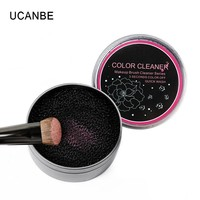 By Nanda Practical Makeup Brushes Cleaner Tool Eyeshadow Contour Powder Clean Maquiagem Sponge Cleaner Box Remover Color Switch