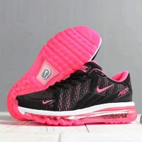 NIKE Air Max 270 Fashion Women Men Casual Sports Running Shoes Sneakers Black Pink I-SSRS-CJZX