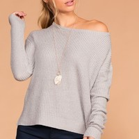 Leanne Grey Knit Sweater