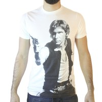 Star Wars Han Solo The Space Cowboy Men's White T-shirt