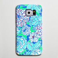 Blue White Floral Turquoise Galaxy s6 Edge Plus Case Galaxy s6 s5 Case Samsung Galaxy Note 5 4 3 Phone Case s6-138