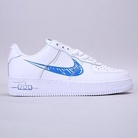 Nike Air Force 1 Low New fashion hook print running shoes White
