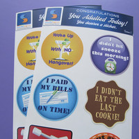 Adult Reward Stickers You Adulted Today Congratulations adult humor snarky sarcastic decals women woman sticker decal funny clever cute