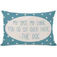"""""""My Spot My Chair"""" Outdoor Throw Pillow by OneBellaCasa, 14""""x20"""""""